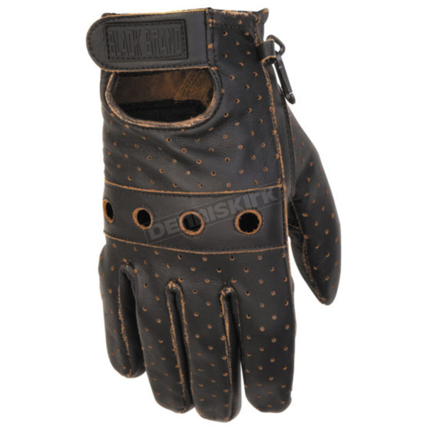 Black Brand Vintage Knuckle Gloves - BB7054