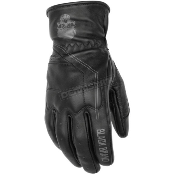 Black Brand Pinstripe Gloves - BB7162