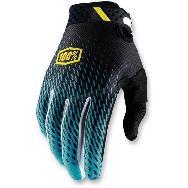 100% Supra Teal Ridefit Gloves - 10001-012-11