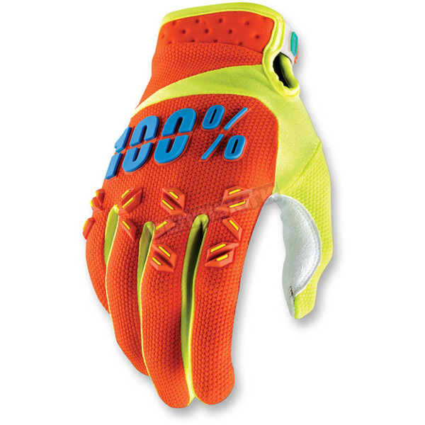 100% Orange Airmatic Gloves - 10004-006-14