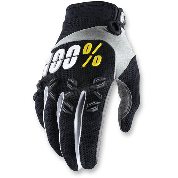 100% Black Airmatic Gloves - 10004-011-13