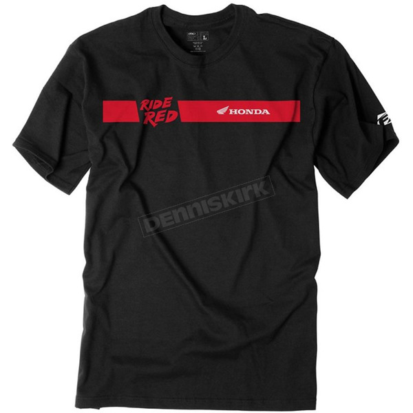 Factory Effex Black Honda Ride Red Bar T-Shirt - 19-87312