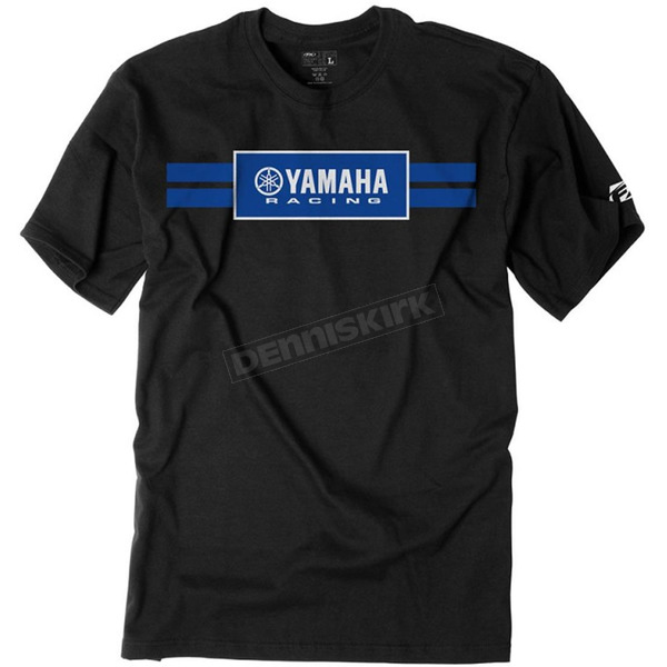 Factory Effex Black Yamaha Racing Stripes T-Shirt - 19-87202