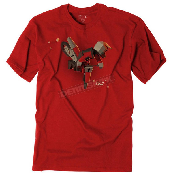 Factory Effex Youth Red Moto Kids T-Shirt - 19-83716