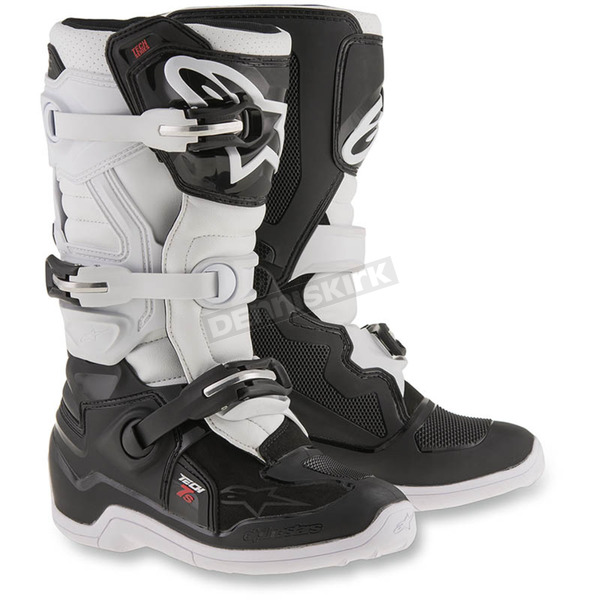 Alpinestars Black/White Youth Tech 7S Boots - 2015017-12-3