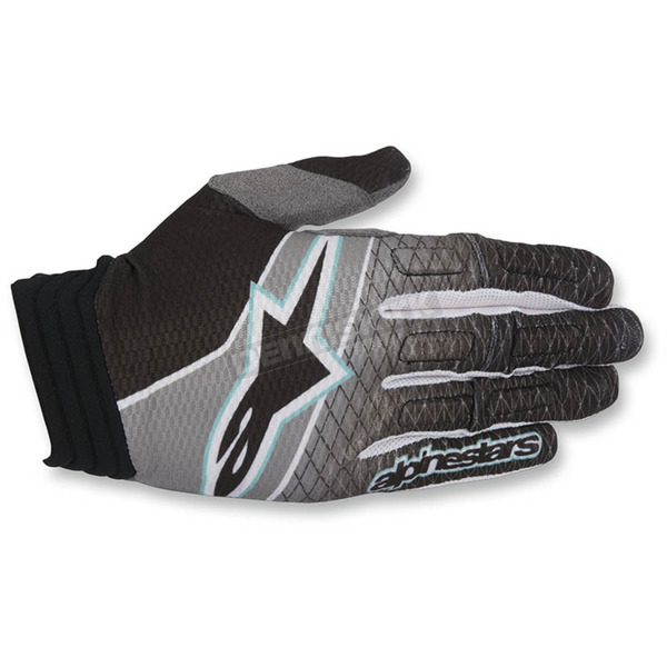 Alpinestars Black/Teal/Dark Gray Aviator Gloves - 3560317-1016-SM