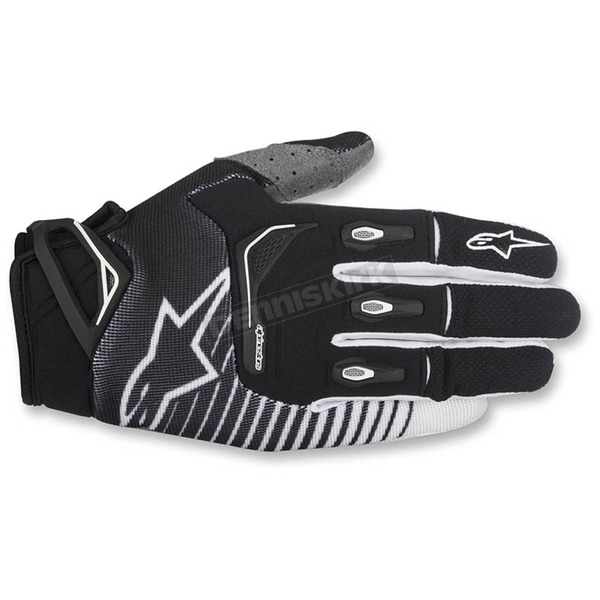 Alpinestars Black/White Techstar Gloves - 3561017-12-LG
