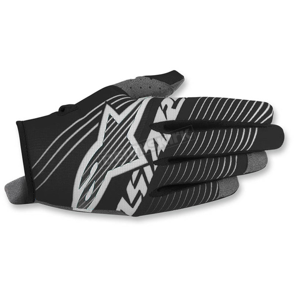 Alpinestars Youth Black/White Radar Tracker Gloves - 3541917-12-XS