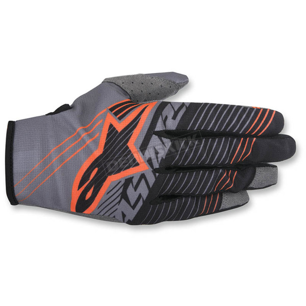 Alpinestars Dark Gray/Black/Flo Orange Radar Tracker Gloves - 3561917-914-LG
