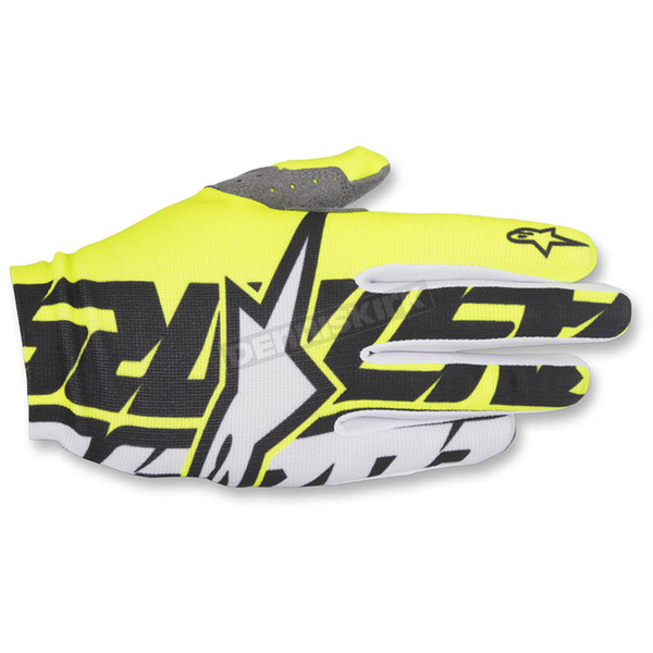 Alpinestars Yellow/Black/White Dune-1 Gloves - 3562517-550-LG