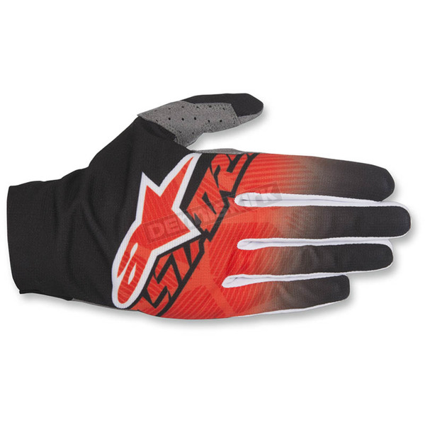 Alpinestars Black/Red/White Dune-2 Gloves - 3562617-132-LG