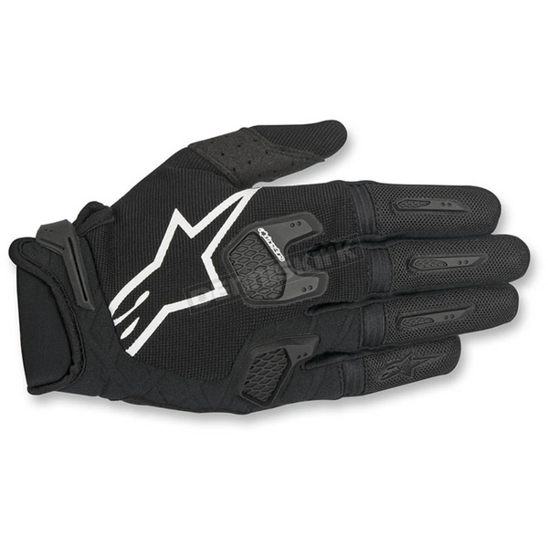 Alpinestars Black/White Racefend Gloves - 3563517-12-LG