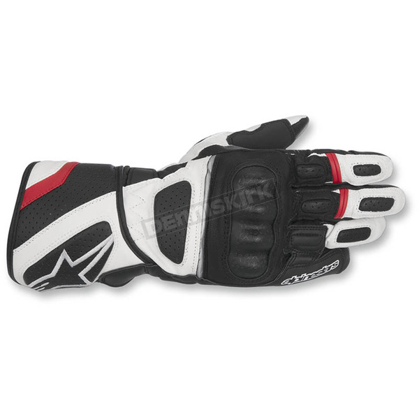 Alpinestars Black/White/Red SP-Z Drystar Gloves - 3527917-123-XL
