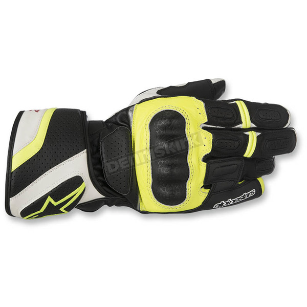 Alpinestars Black/White/Flo Yellow SP-Z Drystar Gloves - 3527917-125-3X