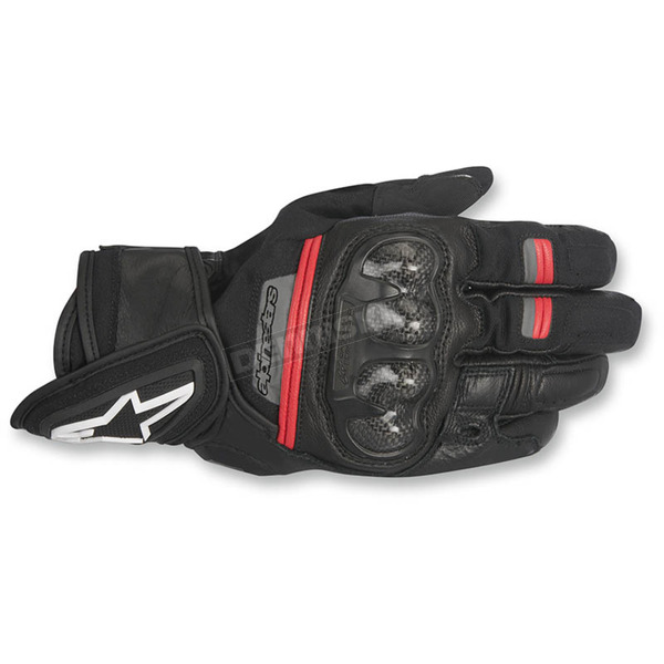 Alpinestars Black/Red Rage Drystar Gloves - 3526817-13-L