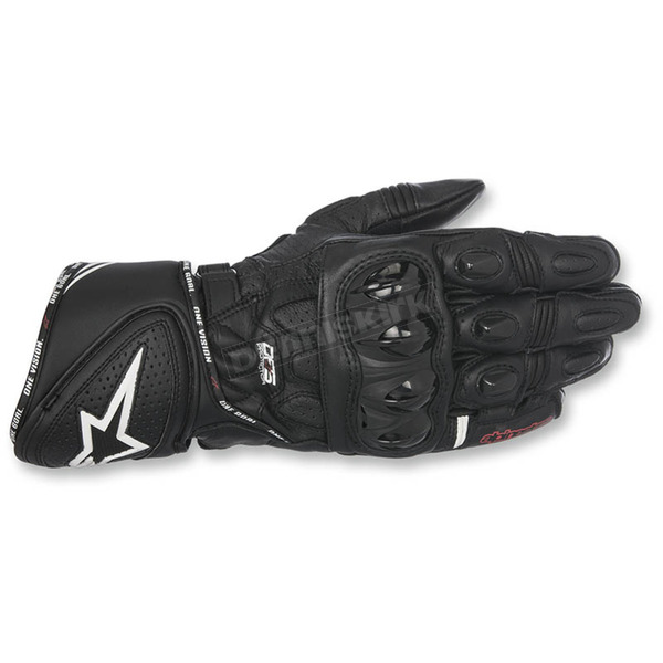 Alpinestars Black GP Plus R Leather Gloves - 3556517-10-M