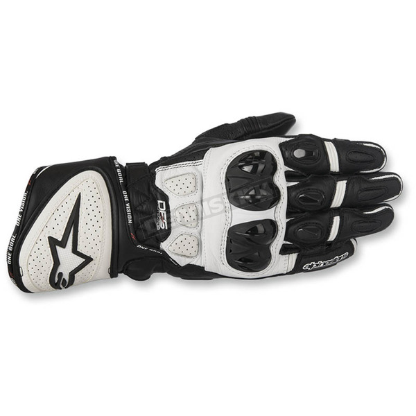 Alpinestars Black/White GP Plus R Leather Gloves - 3556517-12-2X