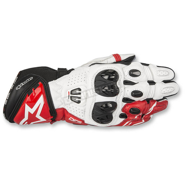 Alpinestars Black/White/Red GP Pro R2 Leather Gloves - 3556717-123-S