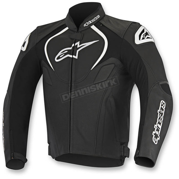 Alpinestars Black Jaws Perforated Leather Jacket - 3101116-10-48