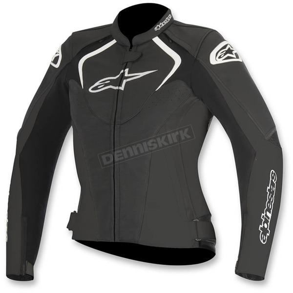 Alpinestars Womens Black Stella Jaws Leather Jacket - 3111016-10-38