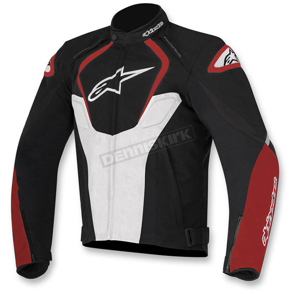 Alpinestars Black/White/Red  T-Jaws Waterproof Jacket - 3201017-123-2X