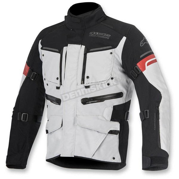 Alpinestars Gray/Black/Red Valparaiso 2 Drystar Jacket - 3204016-9213-L