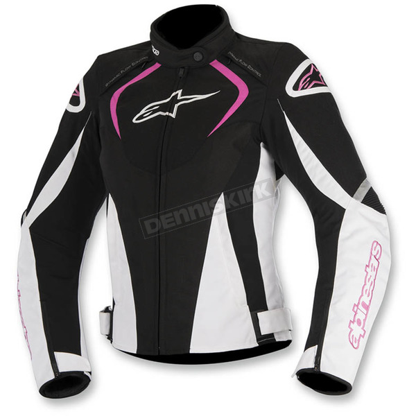 Alpinestars Black/White/Pink Womens Stella T-Jaw Waterproof Jacket - 3211017-1239-XS