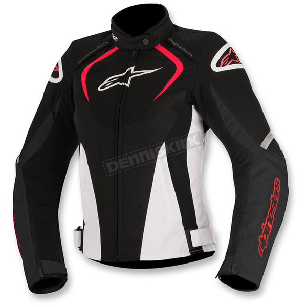 Alpinestars Black/White/Red Womens Stella T-Jaw Waterproof Jacket - 3211017-123-2X