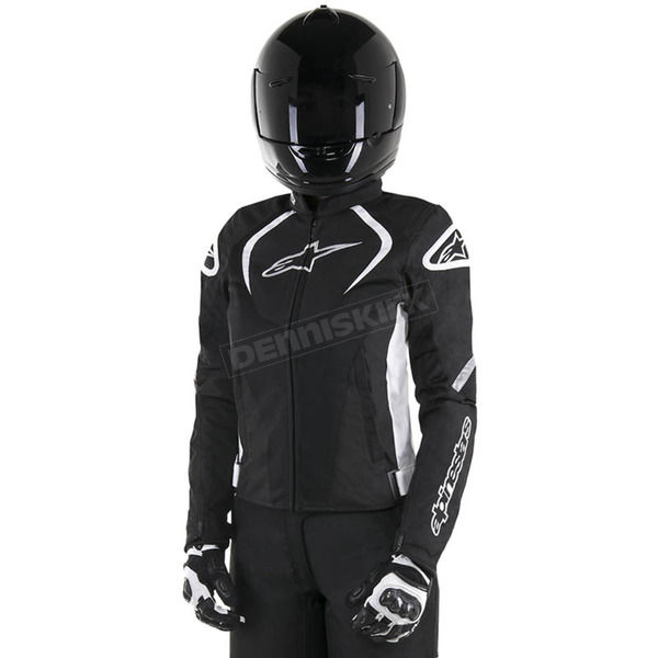 Alpinestars Black/White Womens Stella T-Jaw Air Jacket - 3311517-12-L