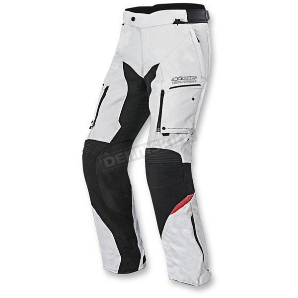 Alpinestars Gray/Black/Red Valparaiso 2 Drystar Pants - 3224016-9213-2X