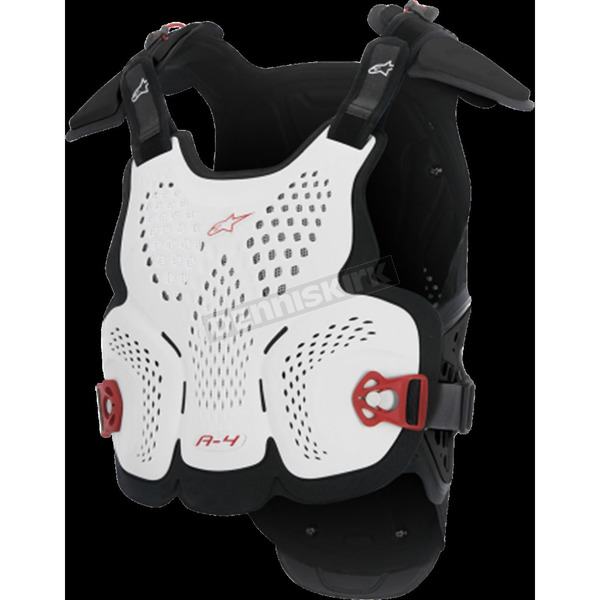 Alpinestars White/Black/Red A-4 Roost Guard - 6701517-213-XSS