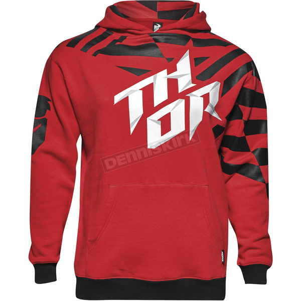 Thor Youth Red/Black Dazz Pullover Hoody - 3052-0380