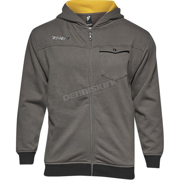 Thor Youth Gray Mech Zip Up Hoody - 3052-0382