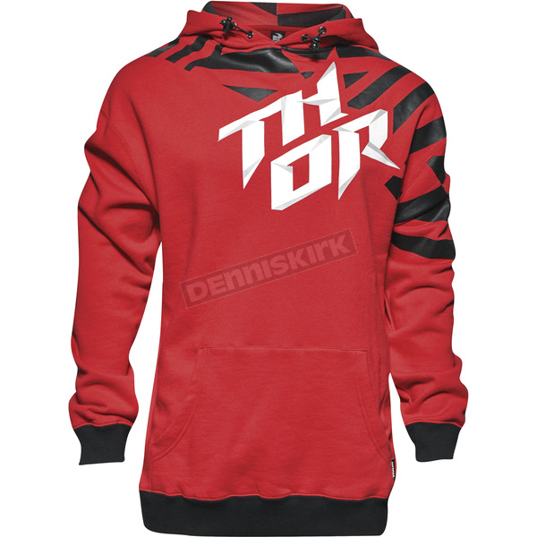 Thor Red/Black Dazz Pullover Hoody - 3050-3694