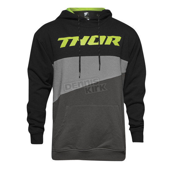 Thor Black/Lime Main Event Pullover Hoody - 3050-3696