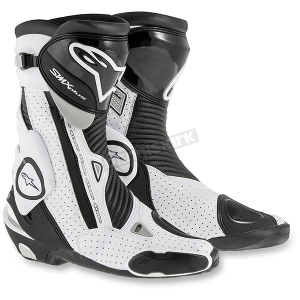 Alpinestars Black/White SMX Plus Vented Boots - 2221015-122-38