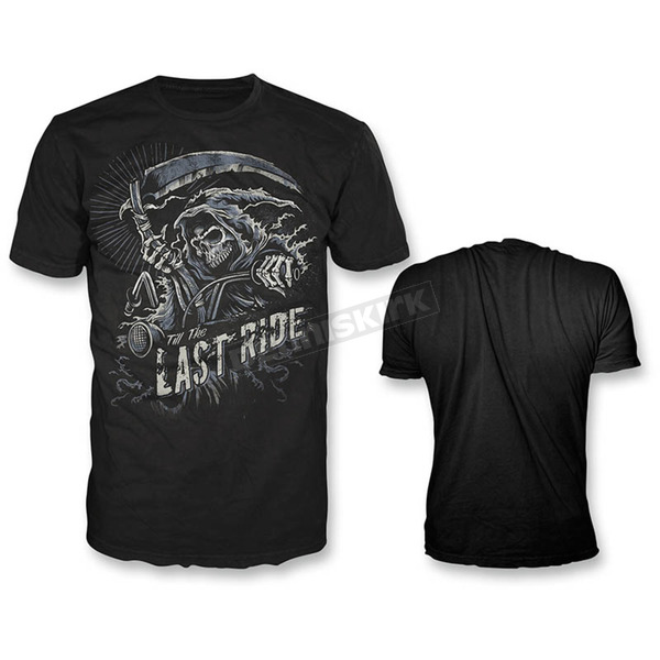 Lethal Threat Black Last Ride T-Shirt  - HT20394M