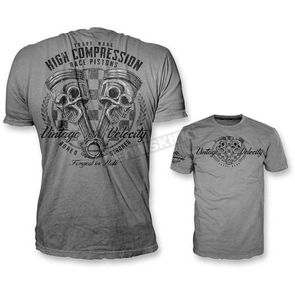 Lethal Threat Gray High Compression Pistons T-Shirt - VV40102M