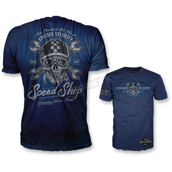 Lethal Threat Blue Speed Shop T-Shirt - VV40110L
