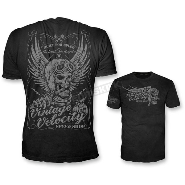 Lethal Threat Black Cigar Skull T-Shirt  - VV40115L