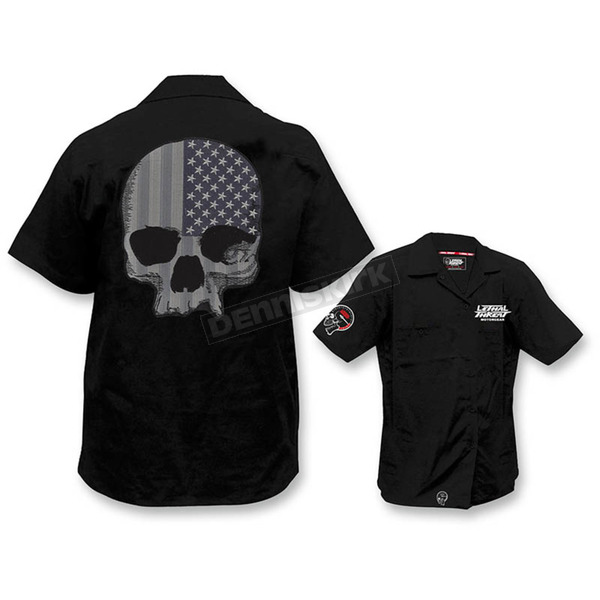 Lethal Threat USA Skull Work Shirts  - FE50169L