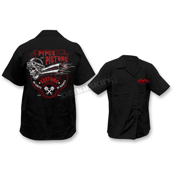 Lethal Threat Pipes N Pistons Work Shirts - HW50183L