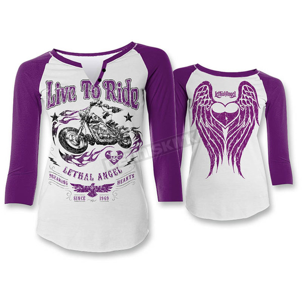 Lethal Threat Womens Live 2 Ride Shirt - LT20322L