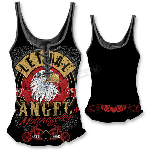 Lethal Threat Womens Fast N Free Eagle Tank Top - LT20328XL