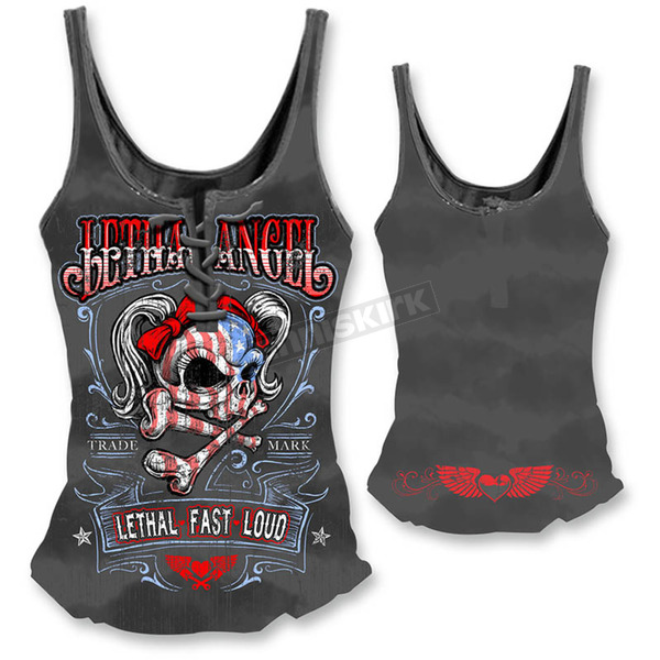 Lethal Threat Womens USA Girl Tank Top  - LT20302XL