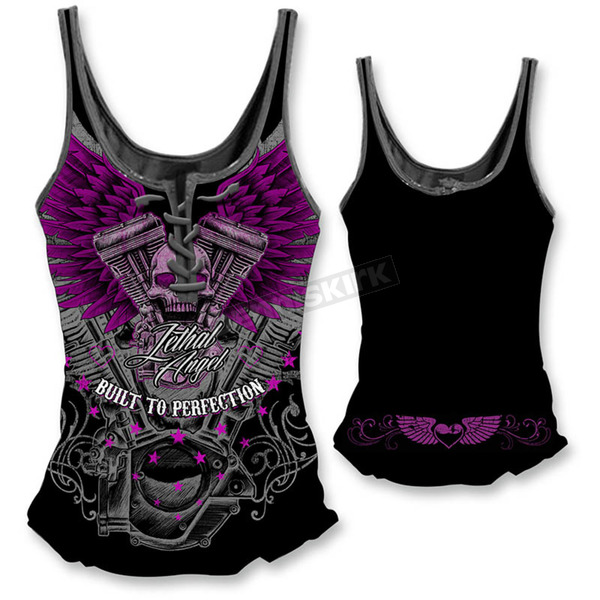 Lethal Threat Womens VTwin Skull Tank Top  - LT20321S