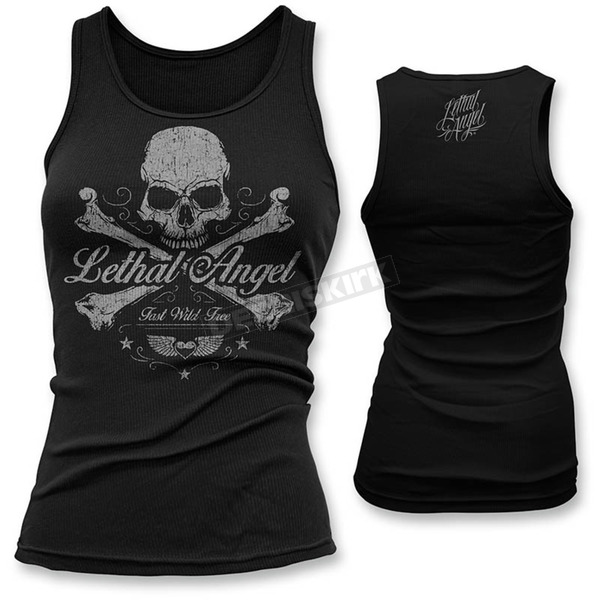 Lethal Threat Womens Skull N Crossbones Tank Top - LT20389S