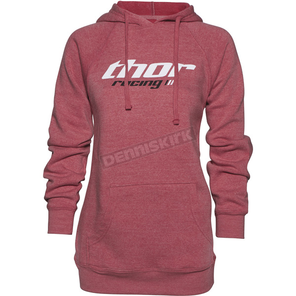 Thor Women's Heather Pink Pinin Pullover Hoody - 3051-0950