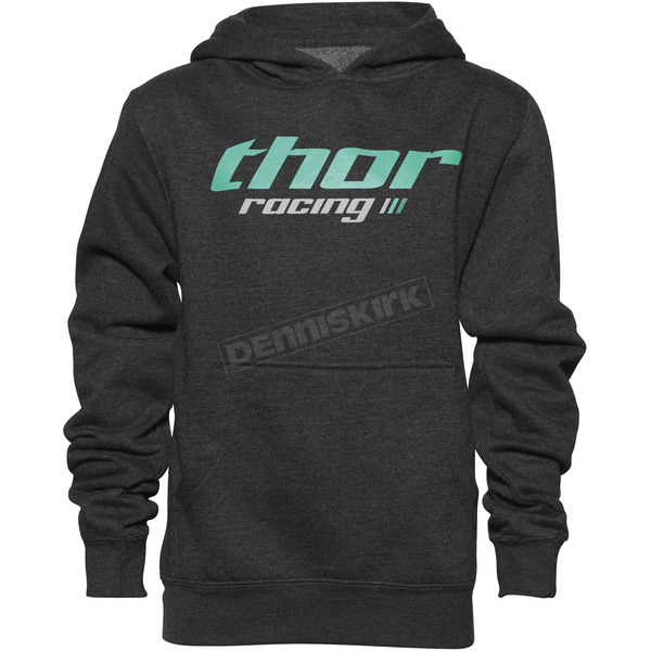 Thor Girls Charcoal Pinin Pullover Hoody - 3052-0385