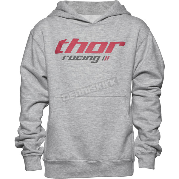 Thor Girls Heather Gray Pinin Pullover Hoody - 3052-0390
